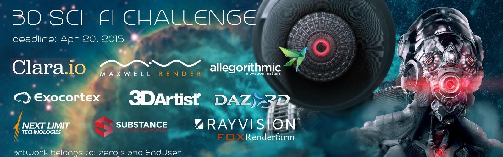 瑞云Rayvision渲染助力CGtrader 3D科幻竞赛——有胆,你就来战!