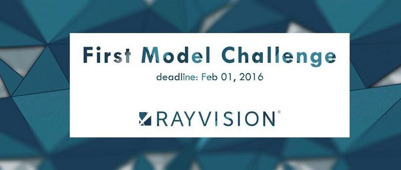 瑞云独家赞助CGTrader 2016首赛 —— First Model Challenge