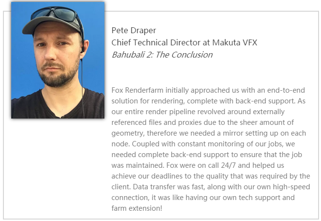 Makuta VFX首席技术总监Pete Draper-Renderbus云渲染农场