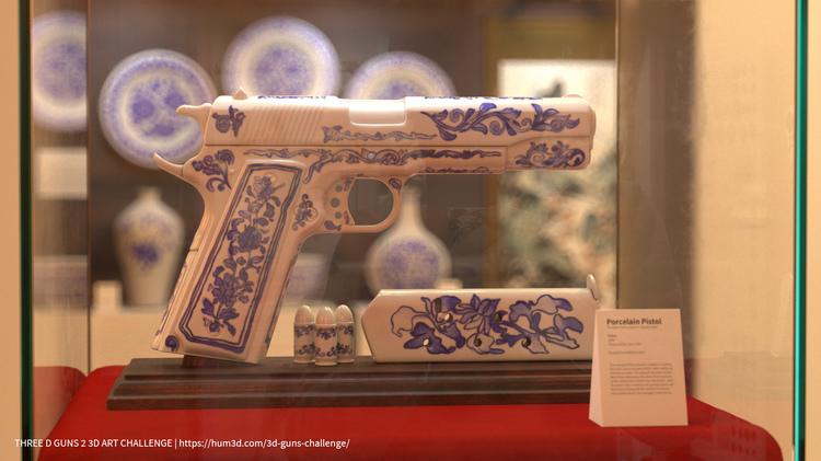 瑞云专访 | 别具一格的文化碰撞!当美式手枪遇上中国青花瓷